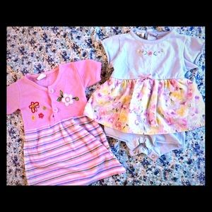 Other - 2pc bundle baby girl dresses